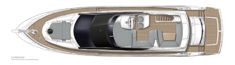 Sunseeker Manhattan 65: Flybridge Layout
