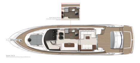 Sunseeker Manhattan 65: Main Deck Layout