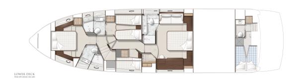 Sunseeker Manhattan 65: Lower Deck Layout