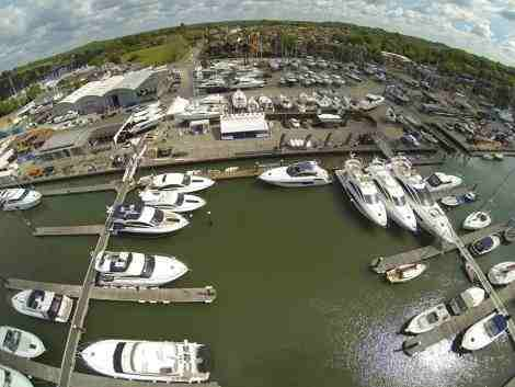 Swanwick Marina, home to Sunseeker Southampton, is the location of the boutique used boat show