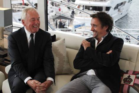 Robert Braithwaite, pictured here with Richard Hammond at last year's show, will lead the new model presentation for Sunseeker