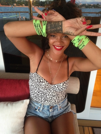 Rihanna was pictured showing her support of C4C earlier this summer