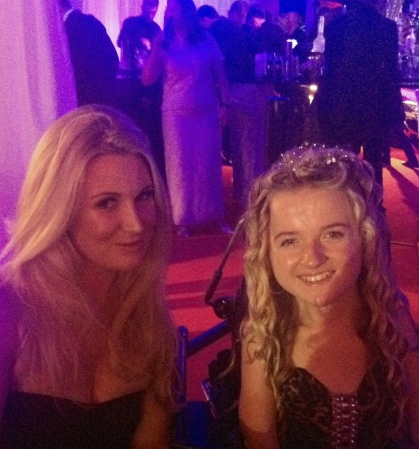 Sunseeker London's PR and Marketing Director Laura Harrison pictured with Caudwell Children's Ambassador, Tilly Griffiths
