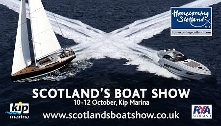Sunseeker are attending the 2014 Scotland Boat Show in Kip Marina, from 10th to 12th October