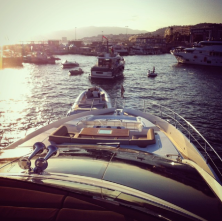 A number of sea trials took place at the Cannes Yachting Festival, with the 80 Sport Yacht being pictured here