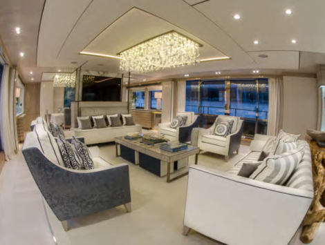 """The bespoke interior of the Sunseeker 40 Metre Yacht """"THUMPER"""" is a must-see"""