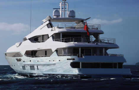 """The Sunseeker 155 Yacht """"BLUSH"""" makes her international public debut at the Monaco Yacht Show"""