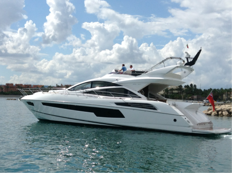 This Sunseeker 68 Sport Yacht has arrived in Sotogrande, where she will be berthed permanently by her new owner