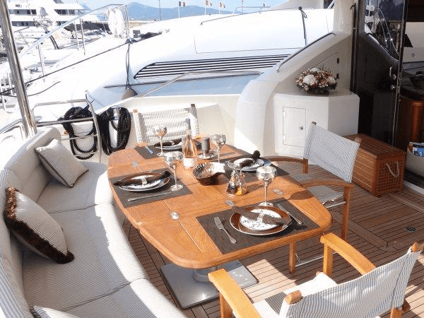 """Handover of the Sunseeker 75 Yacht """"COQUINE"""" took place in St Tropez with Sunseeker Cannes"""