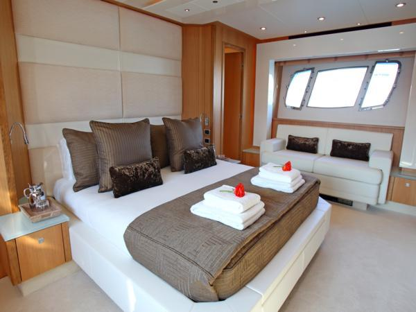 8 guests are accommodated in 4 ensuite cabins, with 3 crew