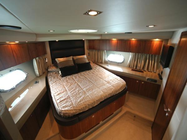 Offering 3 cabins, comprising of a forward Master, port Twin and a starboard Pullman twin arrangement