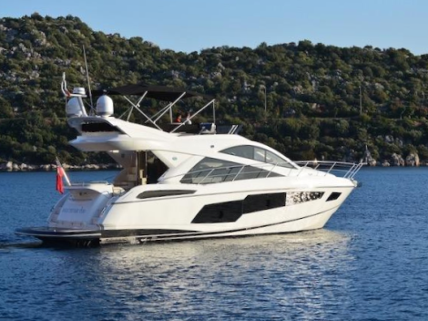 "Sunseeker Poole have listed the 2014 Sunseeker Manhattan 55 ""WILD THYME TOO"" with just 70 hours"