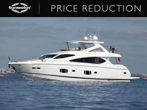 "Sunseeker Turkey have announced a major price reduction for the 2010 88 Yacht ""X CRISTAL X"" now asking €2,500,000"
