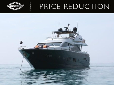 """Sunseeker Poole have reduced the Sunseeker 90 Yacht """"DEVOTION"""" to £1,999,000 ex VAT"""