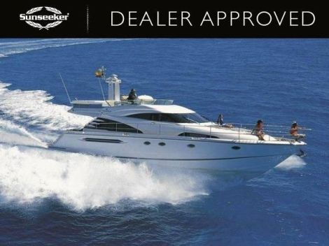 """Sold with a 3-month labour only warranty, the Dealer Approved Fairline Squadron 58 """"BUOY OH BUOY"""" is for sale with Sunseeker France"""