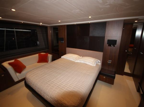 The Princess 72 offers 4 spacious and inviting cabins for 8 guests plus crew