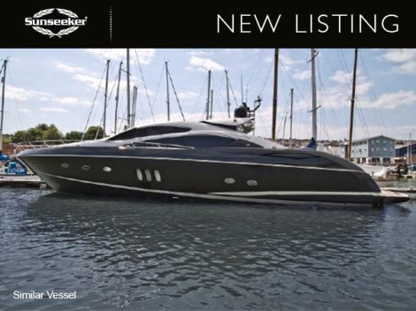 """Sunseeker Poole have listed the stunning black and silver Predator 82 """"HOOLIGAN"""" for sale"""