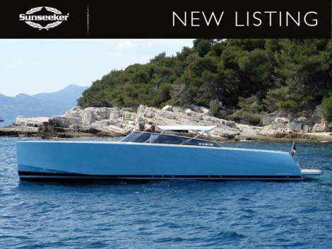 "Sunseeker Beaulieu have listed the sky-blue VanDutch 40 ""ROYAL 2"" for sale, asking €300,000 inc Tax"