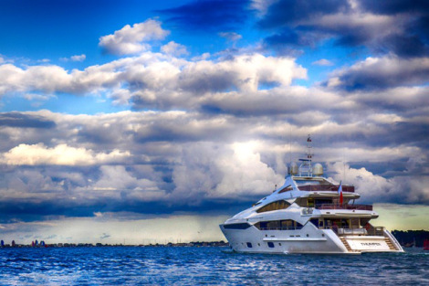 """Sunseeker Poole announced the sale of the highly customised, """"THUMPER"""" earlier this season"""