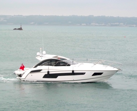 "The Sunseeker Portofino 40 ""LATITUDE"" has been delivered to her new owner by Sunseeker Channel Islands"