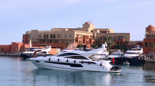 "Sunseeker Egypt have handed over the new Sunseeker 68 Sport Yacht ""FAFY"" in El Gouna"