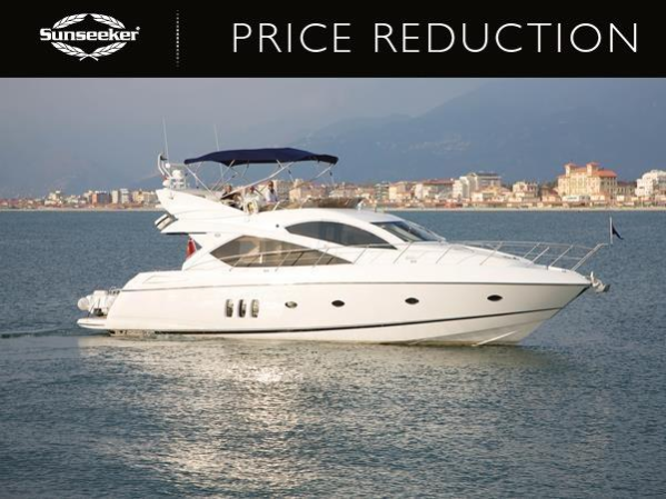 "Sunseeker Poole have announced a price reduction on the Sunseeker Manhattan 60 ""RAOUL W"""