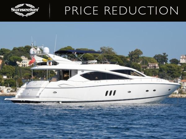 "Sunseeker 75 Yacht ""SOMETHING DIFFERENT"" has been reduced to €899,000 Tax Paid"