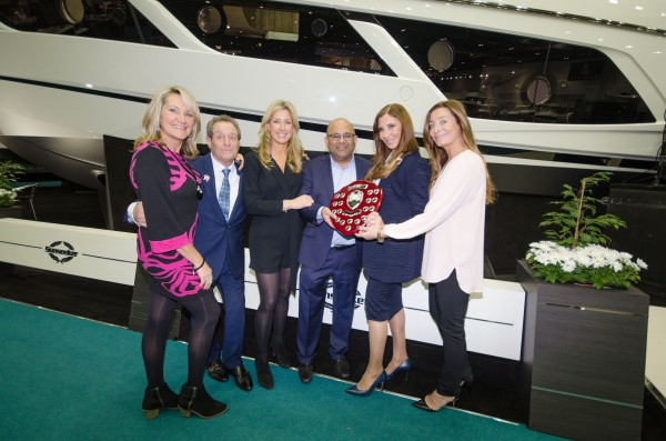 """The PAH Breast Cancer Clinical Trials team, pictured here with Sunseeker London's David & Alexis Lewis, held a fundraising """"Pink Evening"""" in aid of the Epping based charity"""
