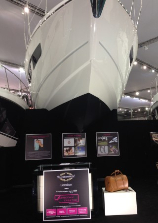 PAH Breast Cancer Clinical Trials are exhibiting with Sunseeker London at the CWM FX London Boat Show