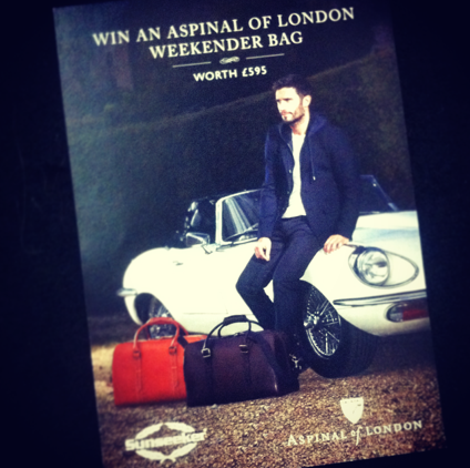 Sunseeker London have teamed with Aspinal to offer visitors to the Sunseeker stand the opportunity to win a luxury leather weekend bag