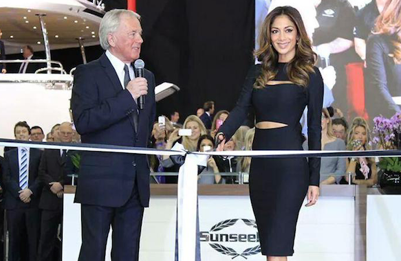 World superstar Nicole Scherzinger launched the Predator 57 and opened the Sunseeker stand on the first day of the show