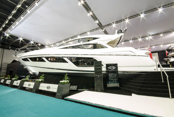 Sunseeker Predator 57: Launched at the CWM FX London Boat Show 2015