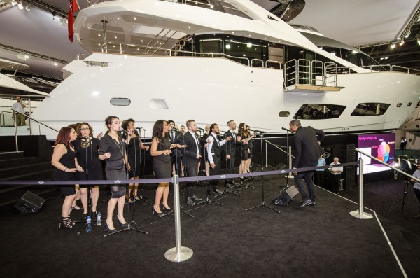 The ACM Gospel Choir performed an amazing selection of songs at the Pink Evening party on the Sunseeker stand