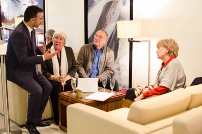 Sani Marina hosted a VIP reception with Sunseeker Hellas at the CWM FX London Boat Show 2015