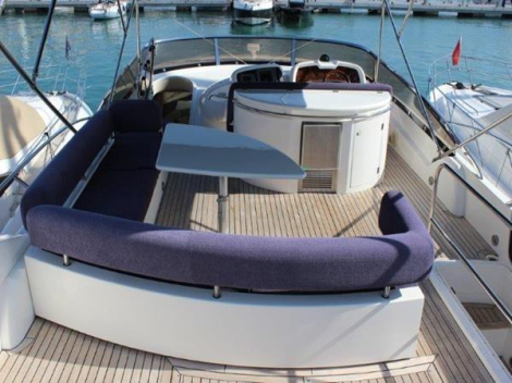 """PAPILLON"" boats a very extensive Mediterranean specification including teak side decks, extra second generator, exterior cushion covers, tender, upgraded KVH satellite system, watermaker and more"