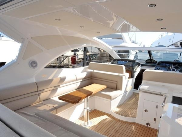 "Jelena Guliarenko Vezia of Sunseeker Monaco introduced the buyer to Frederic Hestin's centrally listed Portofino 48 ""SILVER LINING"""