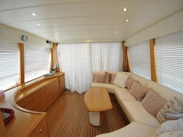 "Built in 2005, the Guy Couach 195 Fly ""ORPHEE"" is finished with a light oak interior and luxurious furnishings"