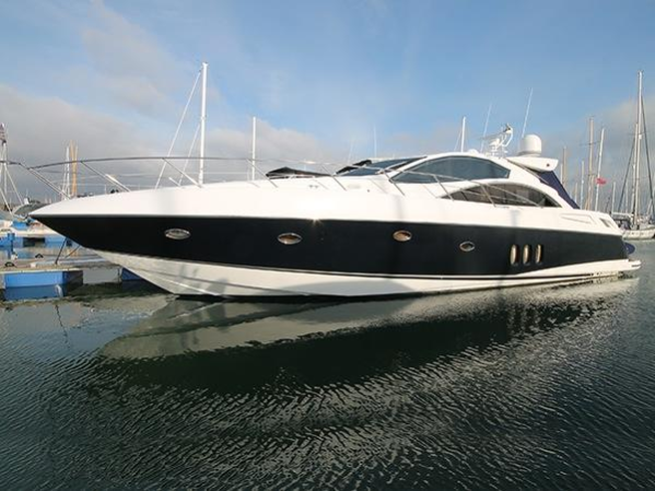 """The Sunseeker Predator 62 """"OPTIONS"""" in slightly less wintery conditions!"""
