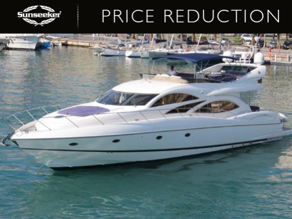 "Sunseeker Mallorca has reduced the Sunseeker Manhattan 74 ""PAPILLON"" to €695,000 Tax paid"