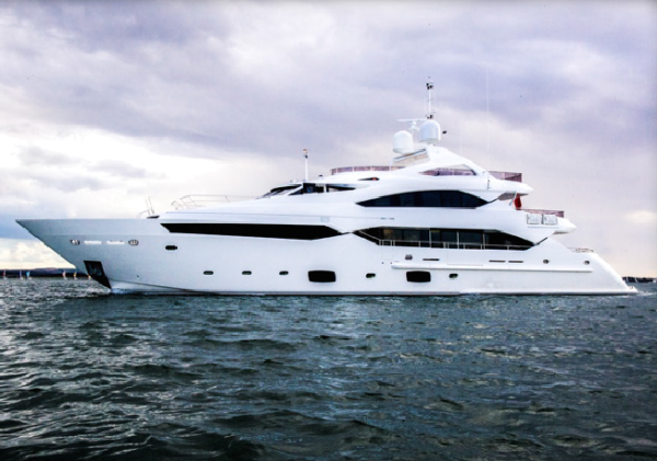 """The Sunseeker 40 Metre Yacht """"THUMPER"""", sold by Sunseeker Poole in 2014, has been nominated for a World Superyacht Award"""