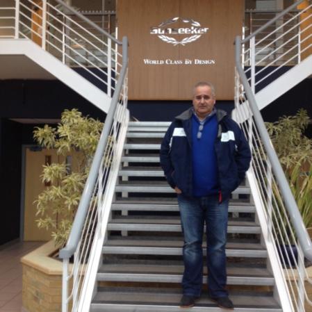 Sunseeker Hellas Technical Manager, Stavros Vlachokyriakos, attends the Sunseeker Service School