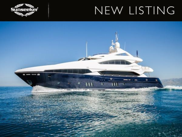 """Sunseeker London announce new Central Listing of Sunseeker 37 Metre Yacht """"LADY RIMA"""""""