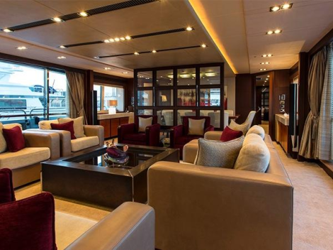 """World renowned superyacht designer Ken Frievokh was appointed to design the interior of """"NEVER SAY NEVER"""""""