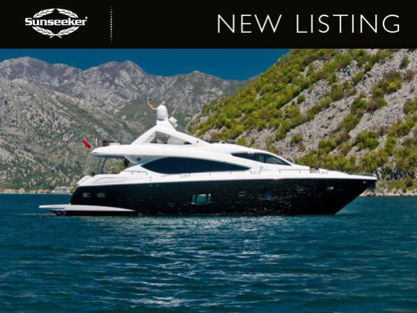 """Sunseeker London have been appointed Central Agents for the Sunseeker 88 Yacht """"OOMKA"""", asking €3,000,000 ex Tax"""