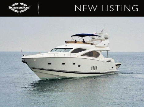 "Sunseeker Poole is listing the 2006 Sunseeker 82 Yacht ""WHITE GOLD"", lying in Spain and asking £890,000 ex VAT"