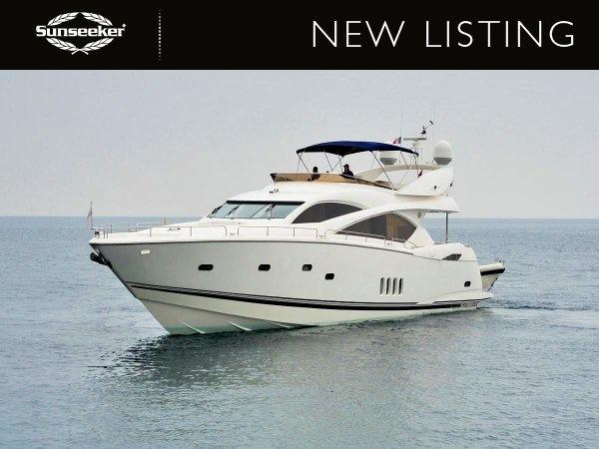 """Sunseeker Poole is listing the 2006 Sunseeker 82 Yacht """"WHITE GOLD"""", lying in Spain and asking £890,000 ex VAT"""