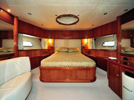 "The 4 cabin, 8 berth flybridge Sunseeker 82 Yacht ""WHITE GOLD"" has been meticulously maintained from new by private owners"