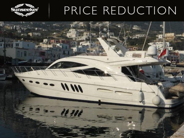 "Sunseeker Cannes has announced a substantial pre-season reduction on the Sealine T60 ""NIENTE DA FARE"", now asking €445,000 Tax Paid"