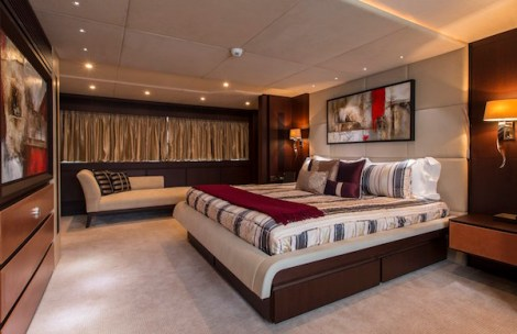 """""""NEVER SAY NEVER"""" sleeps 10 guests across 5 luxurious ensuite cabins including Main Deck Master Stateroom"""