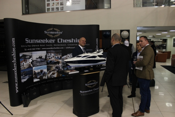 Jonathan Kingsley of Sunseeker Cheshire represented the brand at this lifestyle event